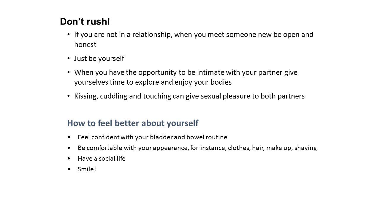 Don't rush.