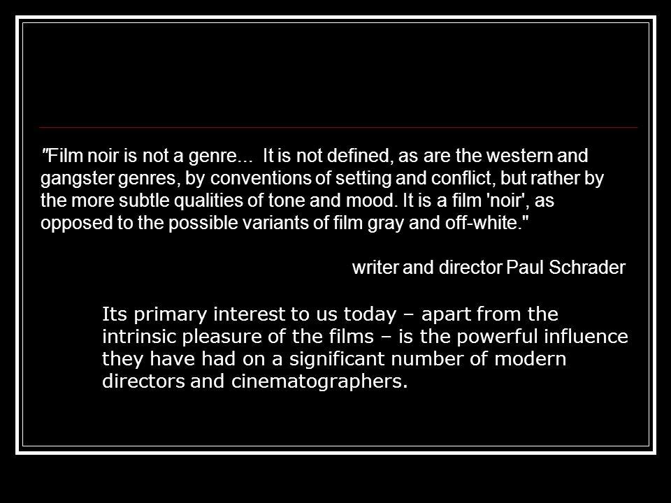 Film Noir: Cinematography 2 Extreme Close Ups Deep Focus (depth of field)