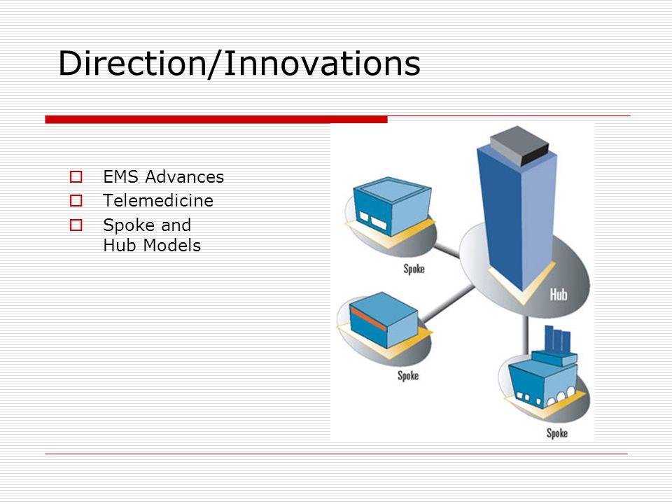 Direction/Innovations  EMS Advances  Telemedicine  Spoke and Hub Models