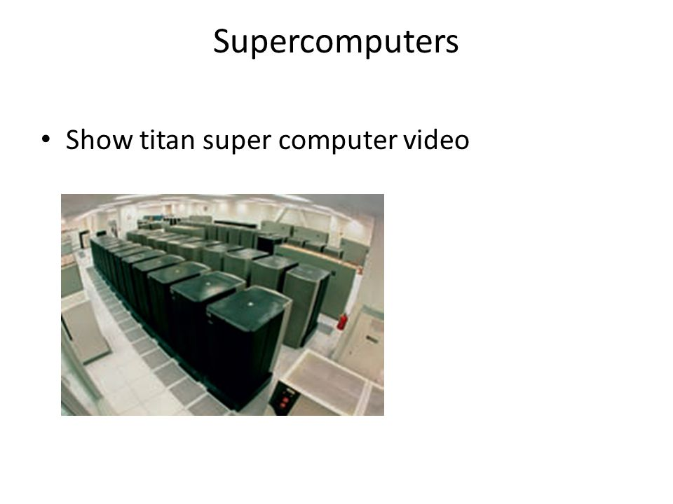 Supercomputers Show titan super computer video