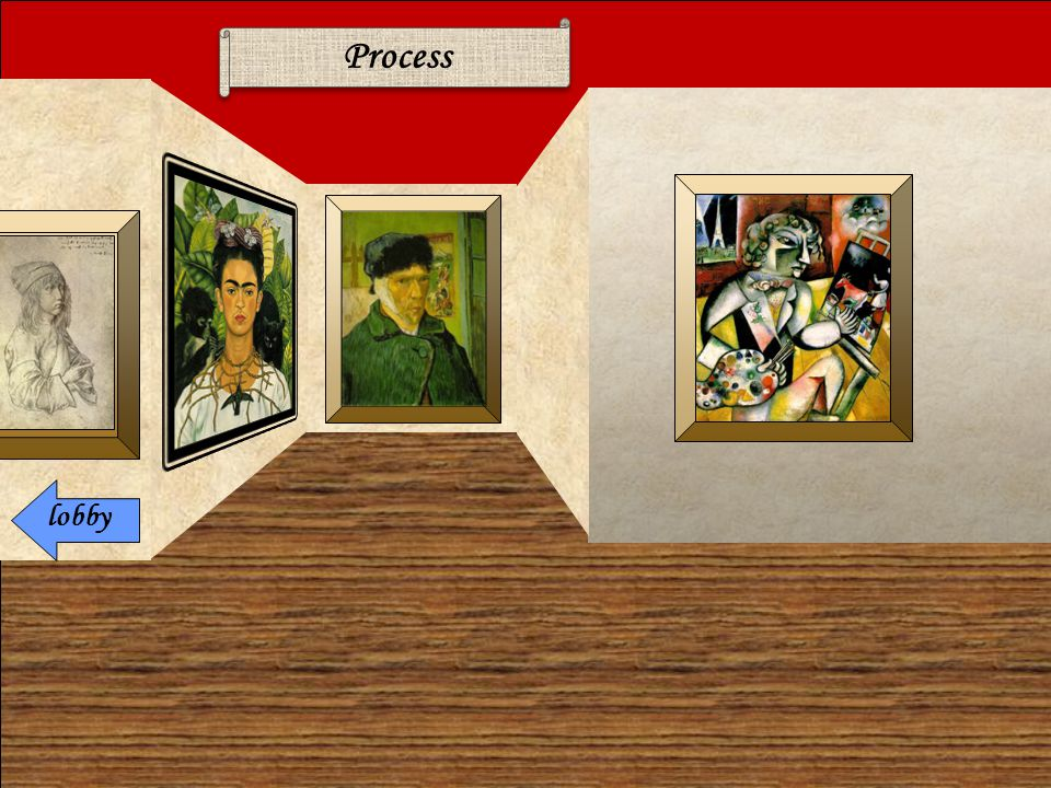 TASK You must explore the 'Process' gallery to learn about the self- portraits of famous artists.