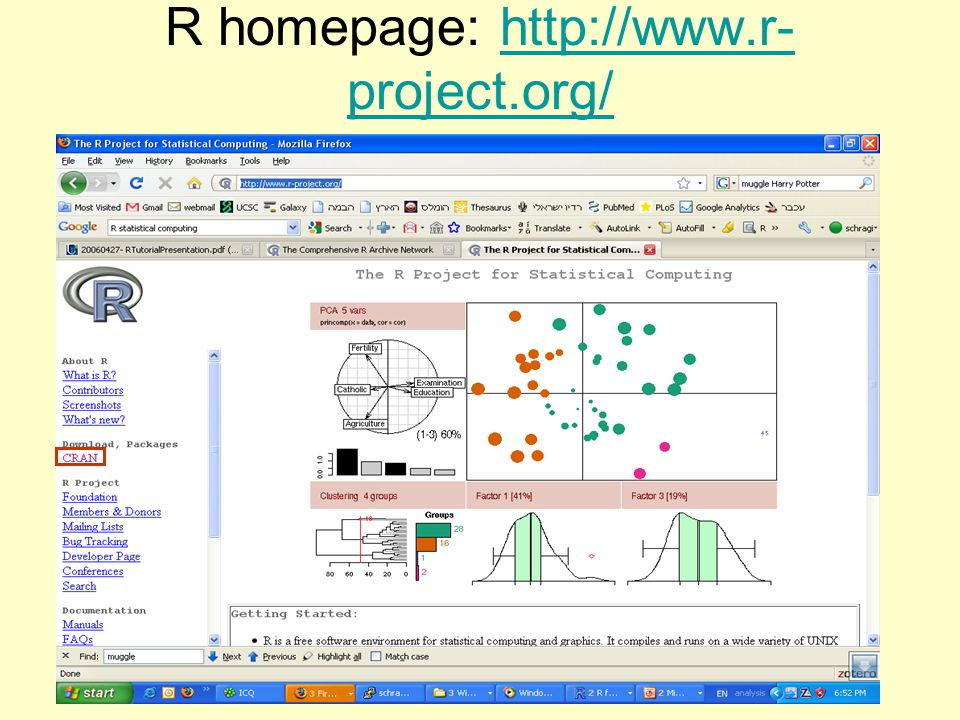 R homepage: http://www.r- project.org/http://www.r- project.org/
