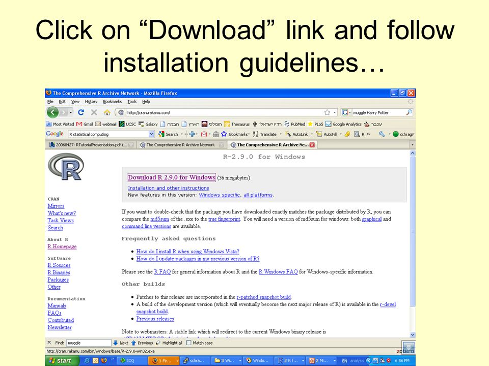 """Click on """"Download"""" link and follow installation guidelines…"""