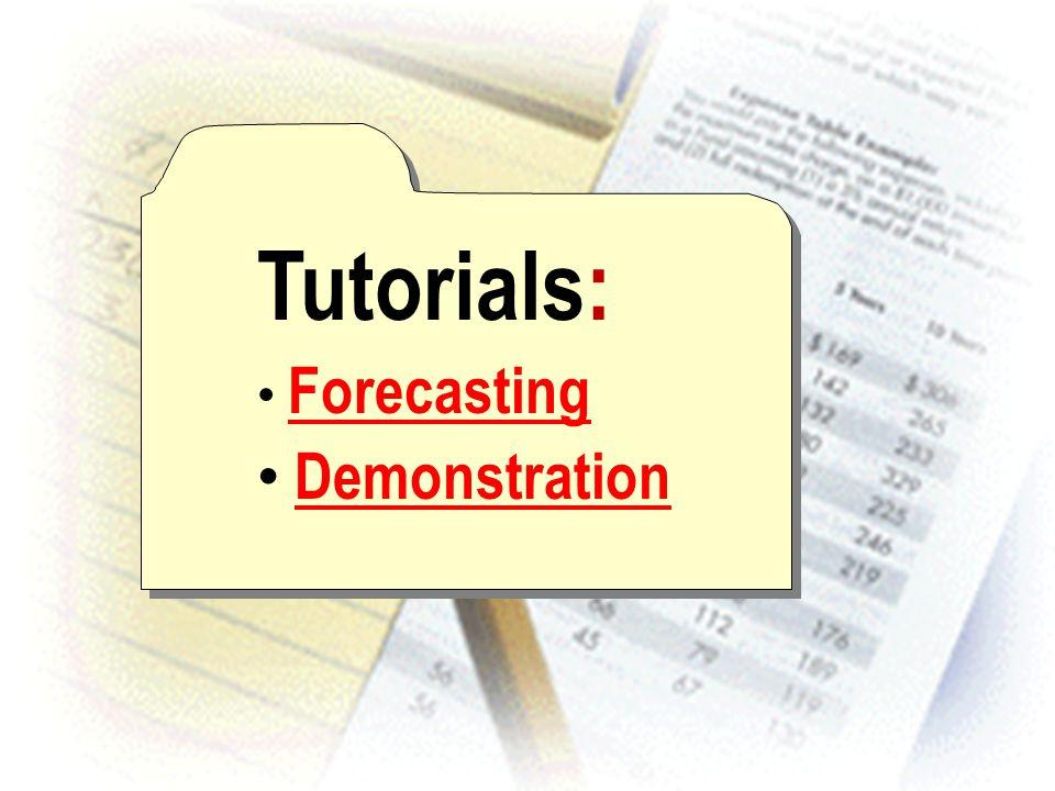 Tutorials: Forecasting Demonstration