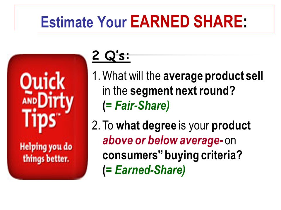 2 Q's: 1.What will the average product sell in the segment next round.