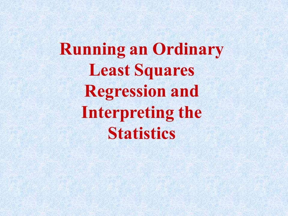 Sum of Squared Residuals This is the minimized value of the sum of squared residuals, which is the objective of least squares.