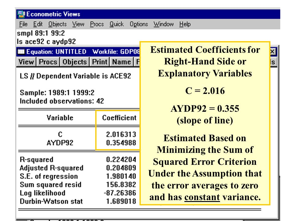 Standard Error of the Estimated Coefficients Represent the Likely Sampling Variability (and Consequently, Reliability of the Estimate).