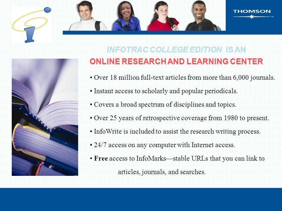 Over 18 million full-text articles from more than 6,000 journals. Instant access to scholarly and popular periodicals. Covers a broad spectrum of disc