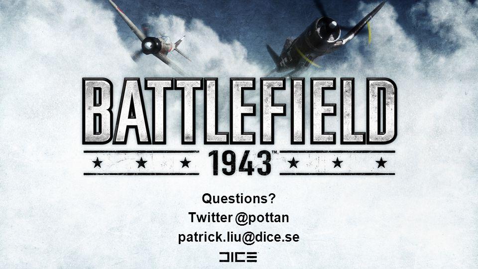 Questions Twitter @pottan patrick.liu@dice.se