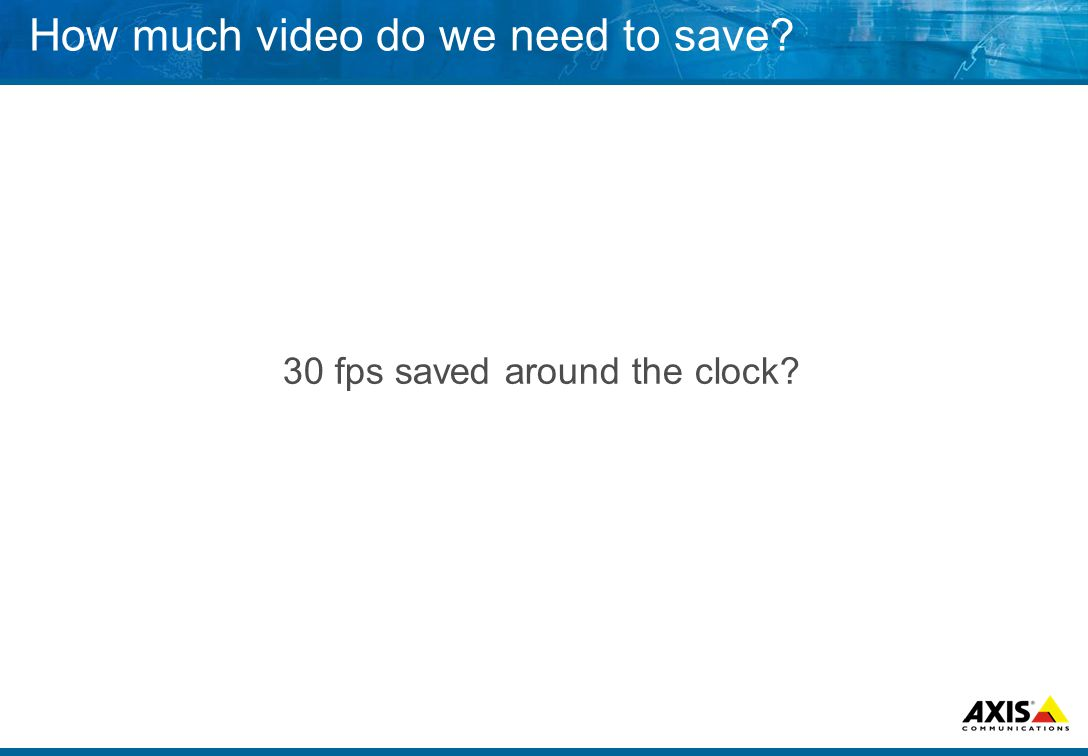 How much video do we need to save 30 fps saved around the clock