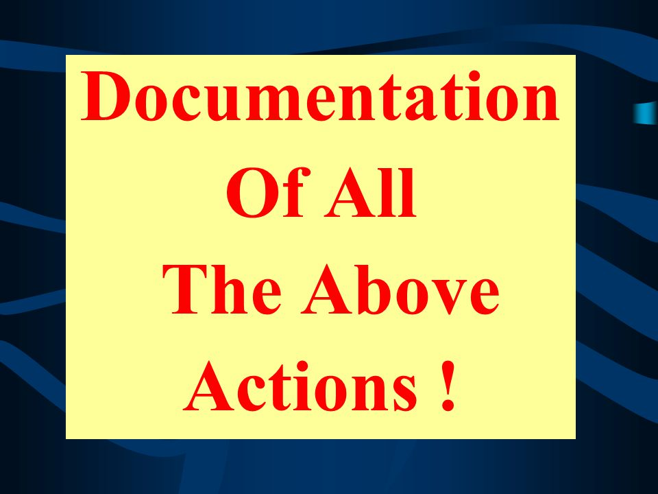 Documentation Of All The Above Actions !