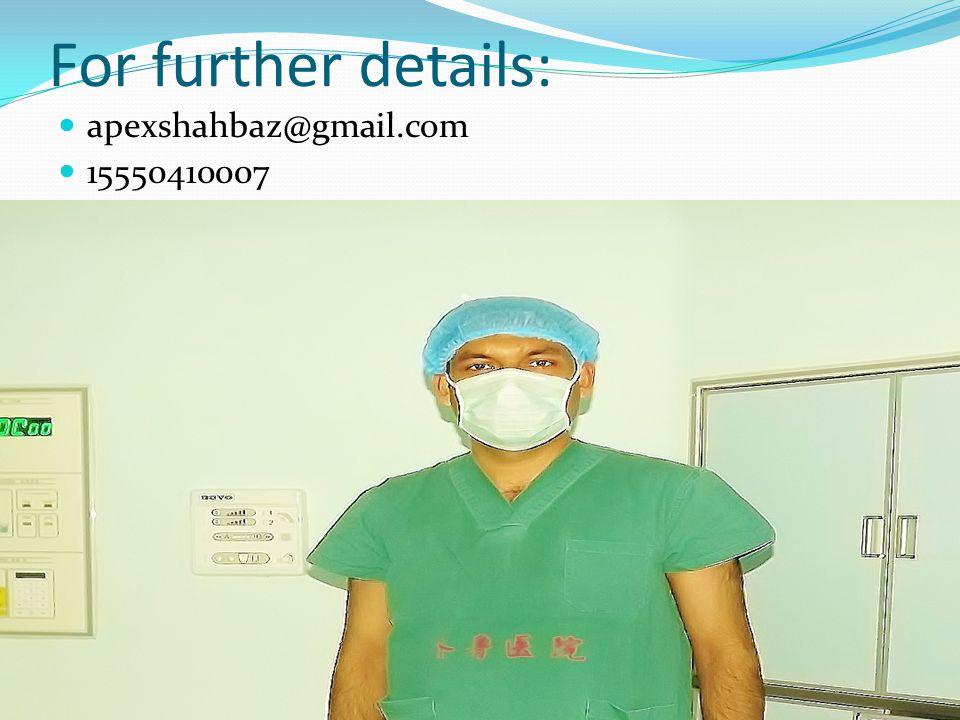 For further details: apexshahbaz@gmail.com 15550410007