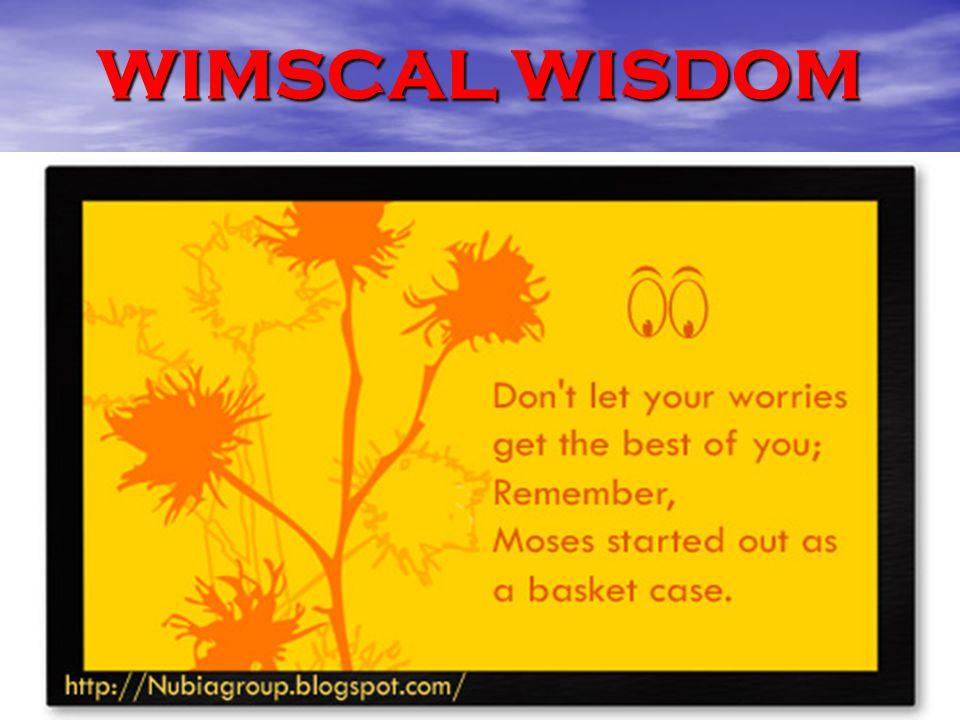 WIMSCAL WISDOM
