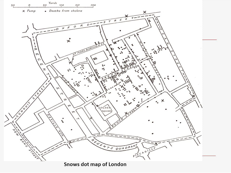 Snows dot map of London