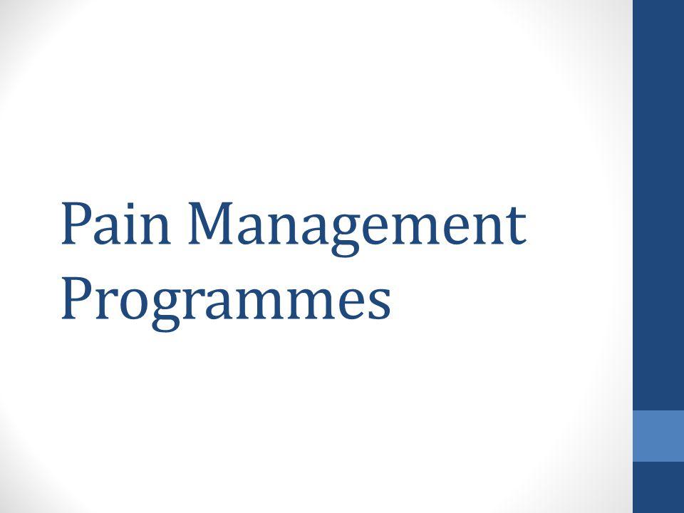 Pain Management Programmes