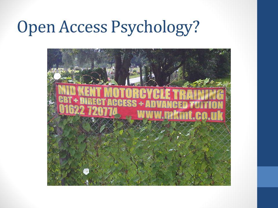 Open Access Psychology?