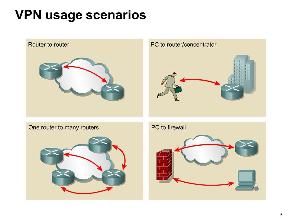 6 VPN usage scenarios