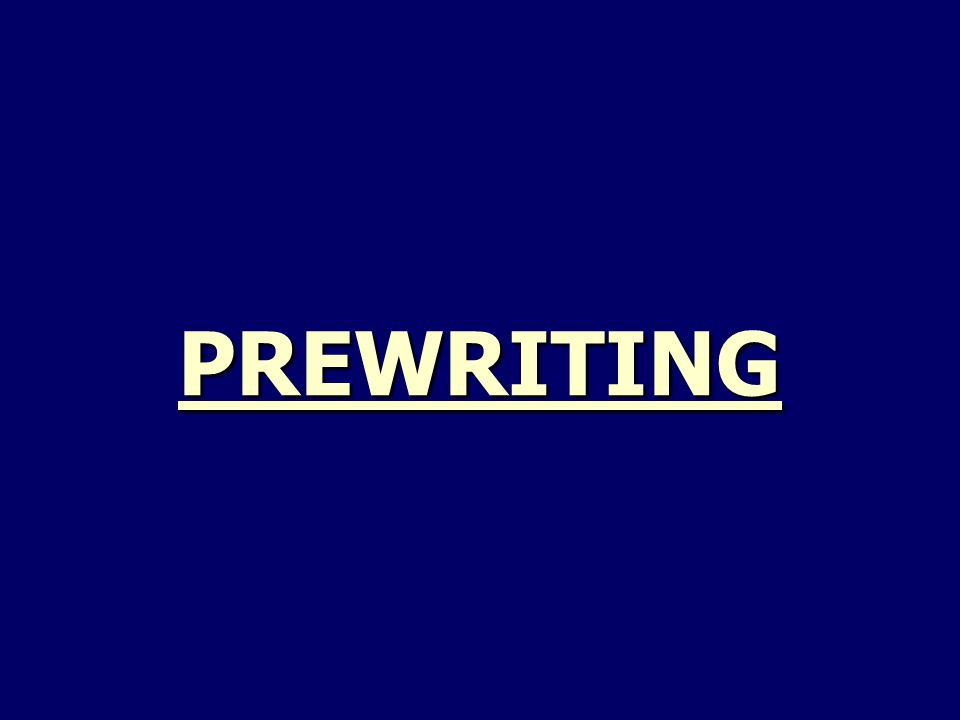 PREWRITING  MAKE 2 LISTS: (1) a list of the 5 best times in your life (2) a list of the 5 worst times in your life  MAKE a TIMELINE for the EVENTS of the MOST SIGNIFICANT EXPERIENCE of YOUR LIFE: ochronology ohave a clear beginning, middle, and end
