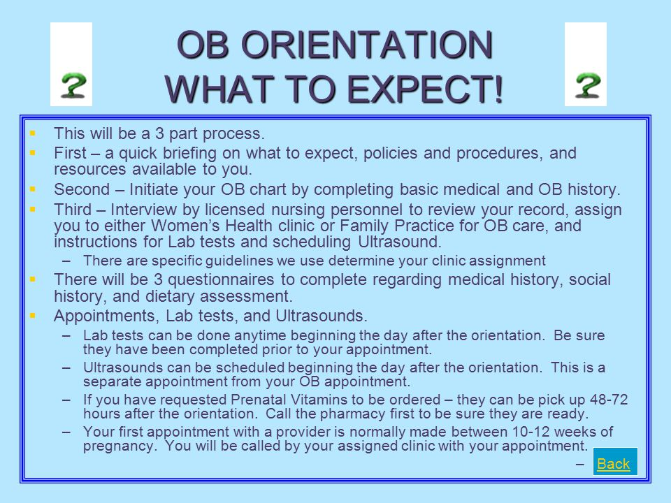 How to get Appointments   New OB Appointment with Provider- Your assigned clinic will call you with your appointment.