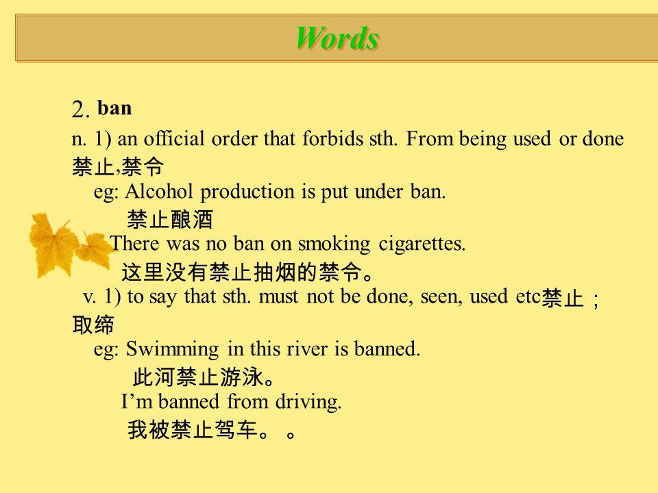 Words 12.drift v.