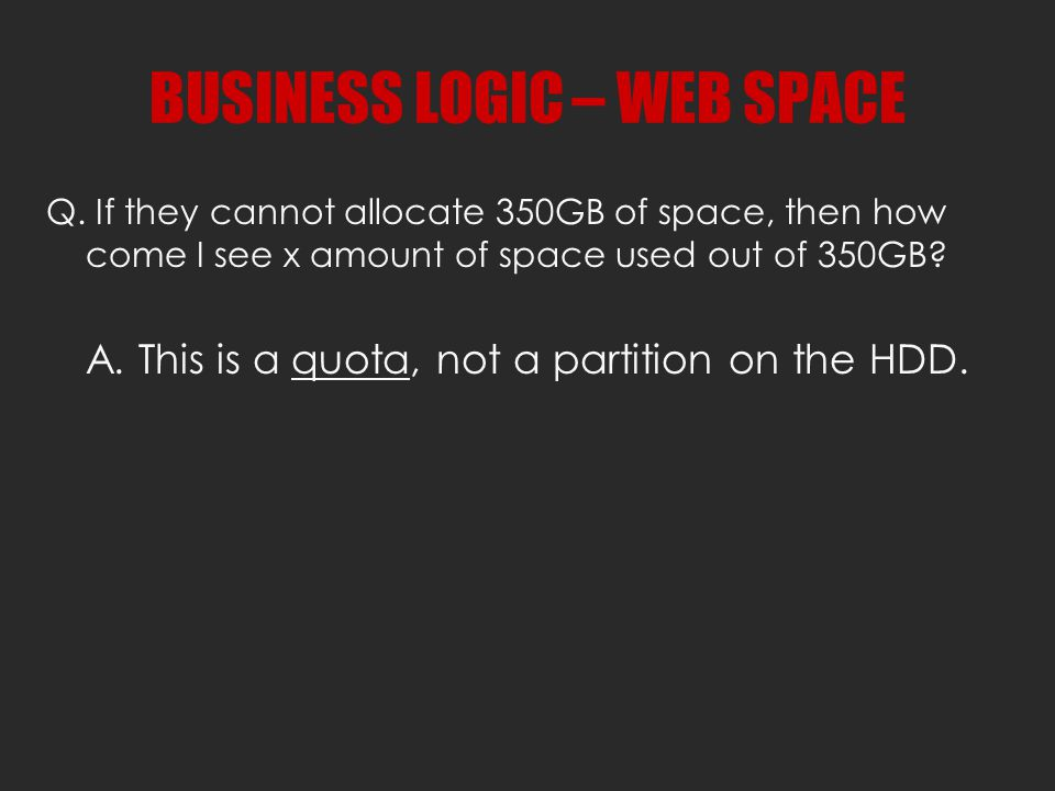 BUSINESS LOGIC – WEB SPACE Q.