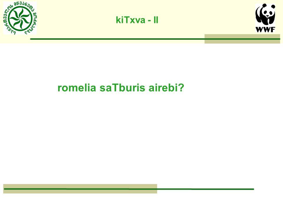 kiTxva - II romelia saTburis airebi