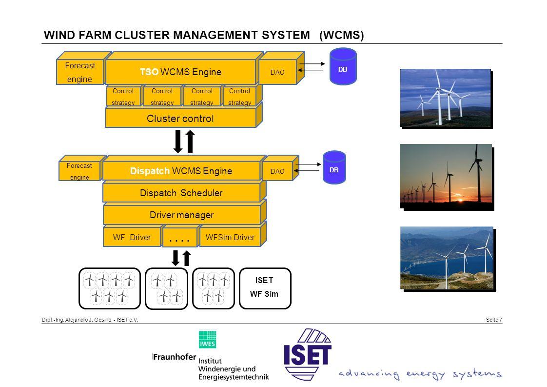 Seite 8 Cluster description: Total Installed capacity: 600 MW Dispatch Centre A: 370 MW Dispatch Centre B: 230 MW WF1 = 50 MWWF 2 = 20 MWWF 3 = 30 MW WF 4 = 60 MW WF 5 = 60 MW WF 6 = 80 MW WF 7 = 120 MWWF 8 = 100 MWWF 9 = 80 MW Dispatch centre A Dispatch centre B