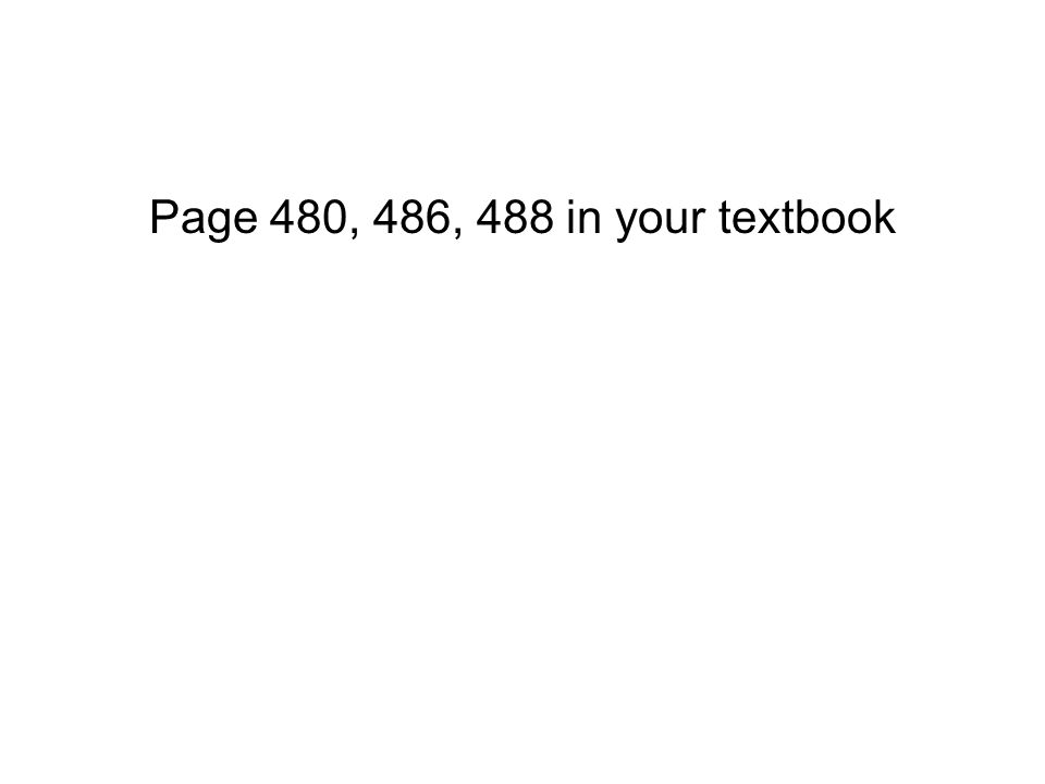 Page 480, 486, 488 in your textbook