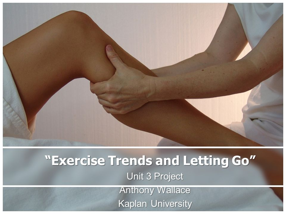 """Exercise Trends and Letting Go"" Unit 3 Project Anthony Wallace Kaplan University"