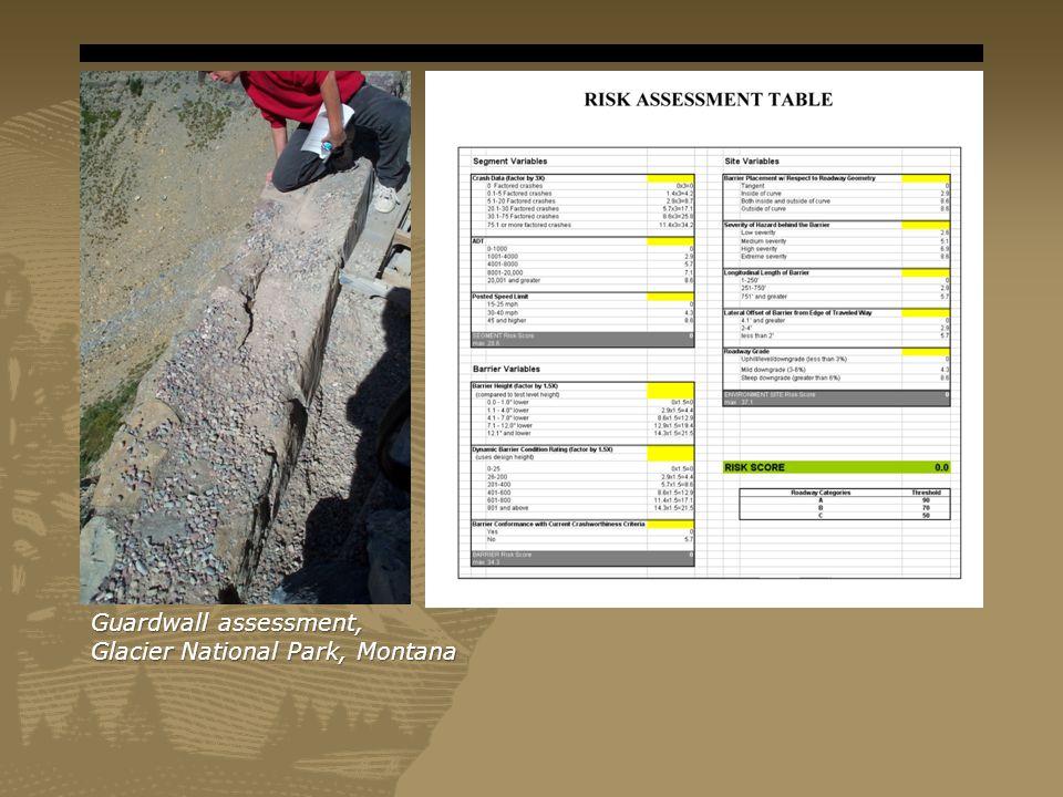 Guardwall assessment, Glacier National Park, Montana