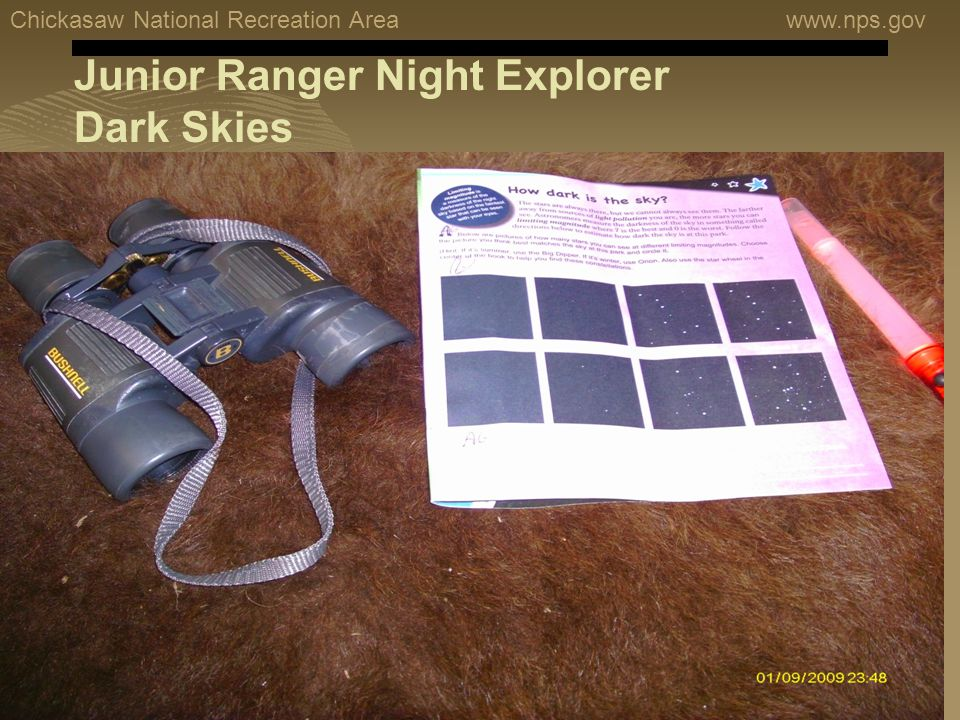 Chickasaw National Recreation Areawww.nps.gov Junior Ranger Night Explorer Dark Skies
