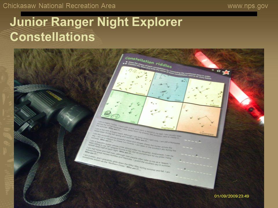 Chickasaw National Recreation Areawww.nps.gov Junior Ranger Night Explorer Constellations