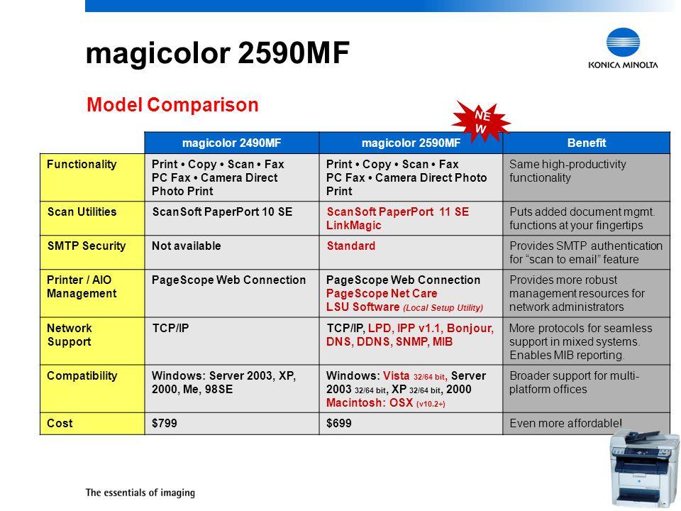 3 20 ppm b&w / 5 ppm color 2400 x 600 dpi / 600 x 600 dpi 24-bit color, up to 8.5