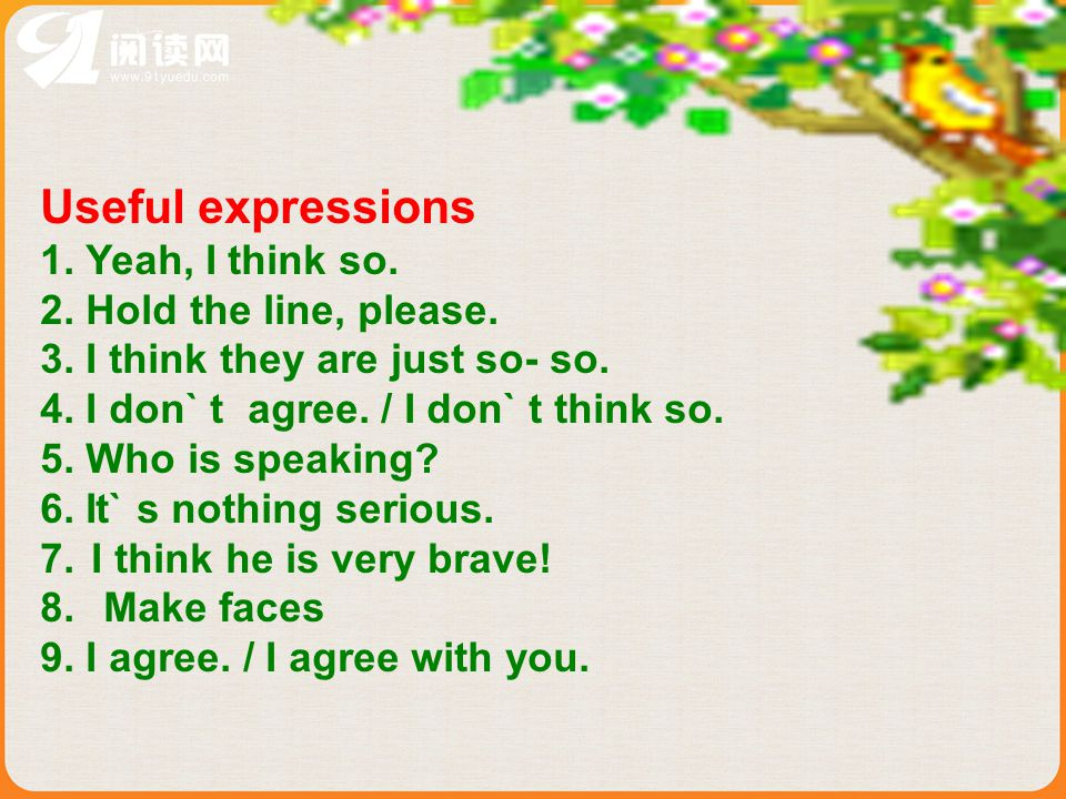 Task 5 Useful expressions