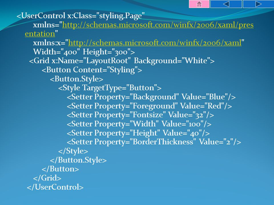 http://schemas.microsoft.com/winfx/2006/xaml/pres entationhttp://schemas.microsoft.com/winfx/2006/xaml