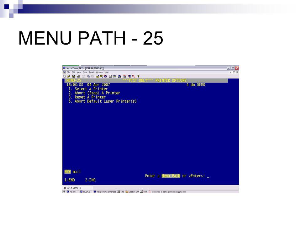 MENU PATH - 25