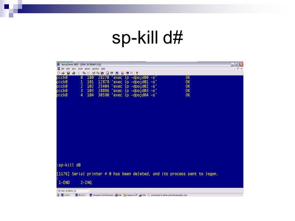 sp-kill d#