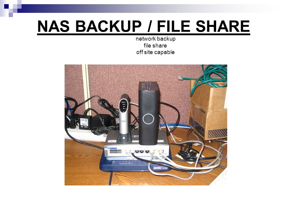 NAS BACKUP / FILE SHARE network backup file share off site capable