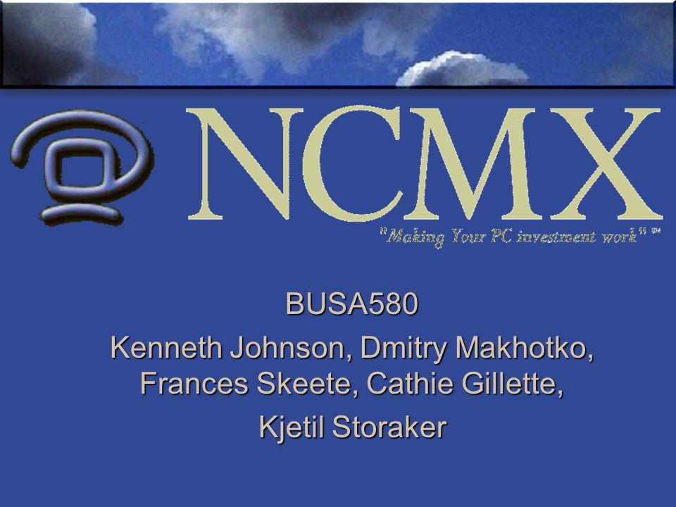 BUSA580 Kenneth Johnson, Dmitry Makhotko, Frances Skeete, Cathie Gillette, Kjetil Storaker