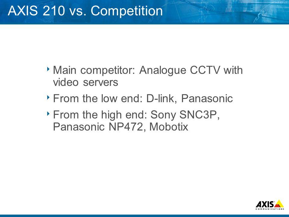 AXIS 210 vs.
