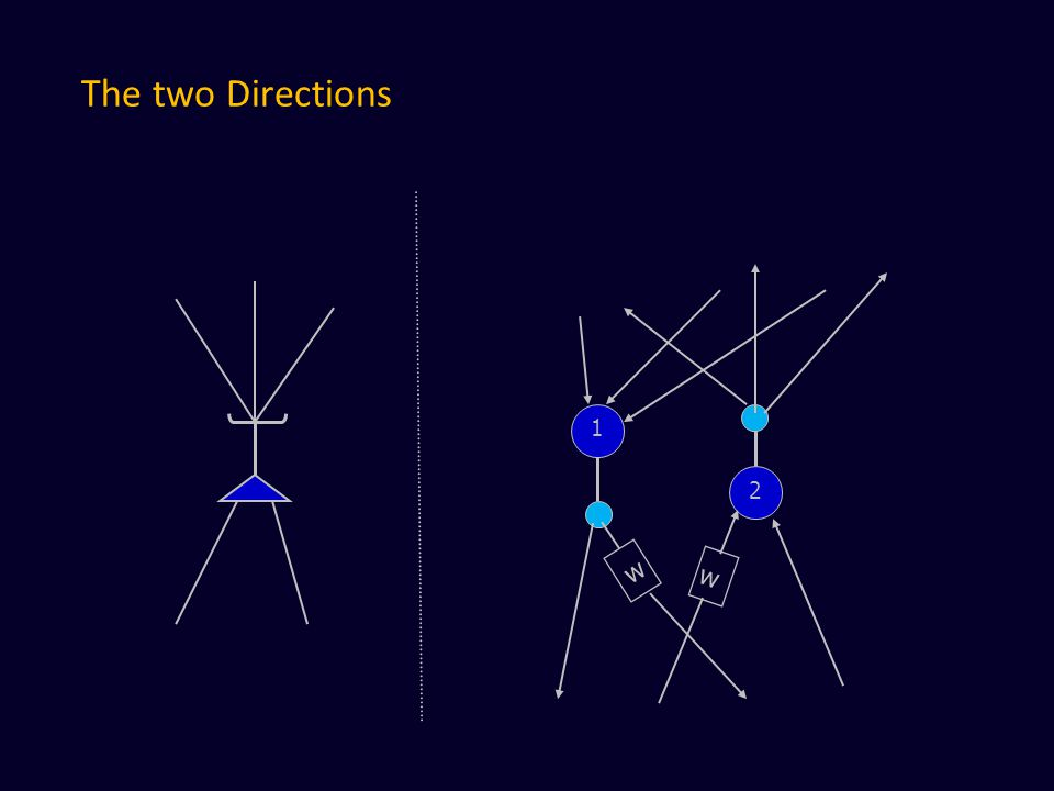 The two Directions 1 2 w w
