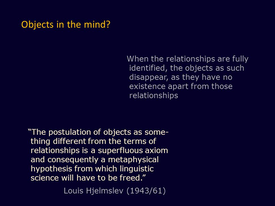 Objects in the mind.