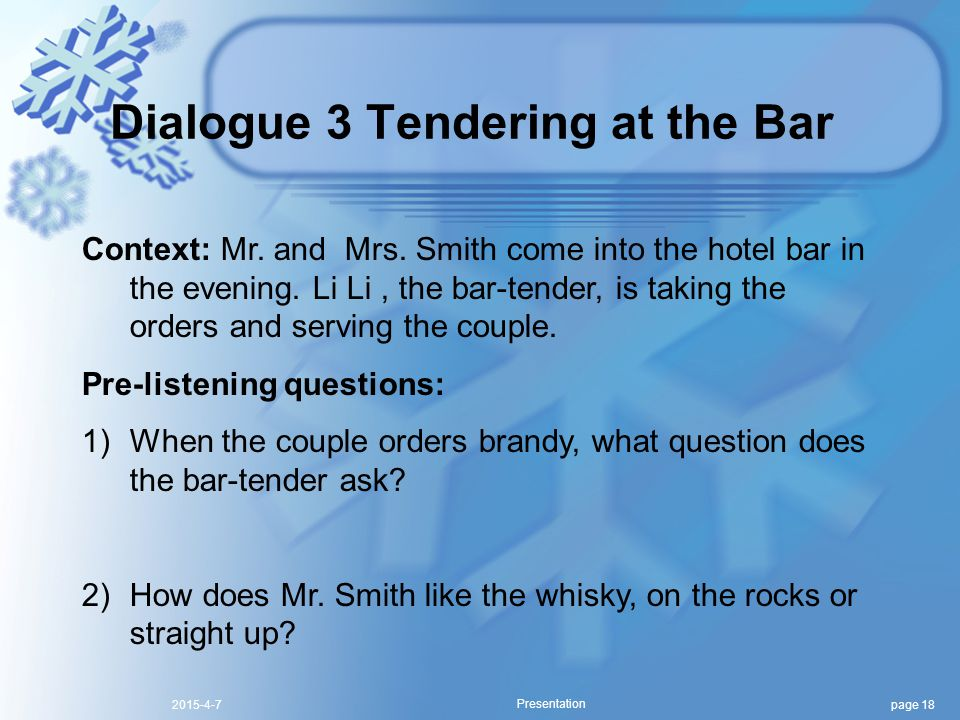 page 182015-4-7 Presentation Context: Mr.and Mrs.