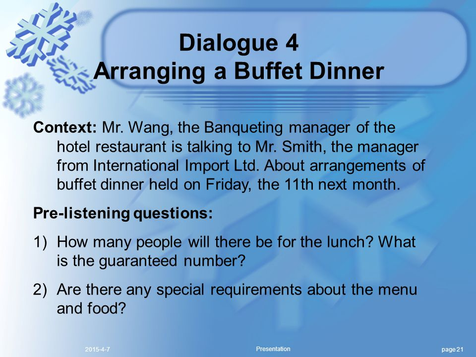 page 212015-4-7 Presentation Context: Mr.