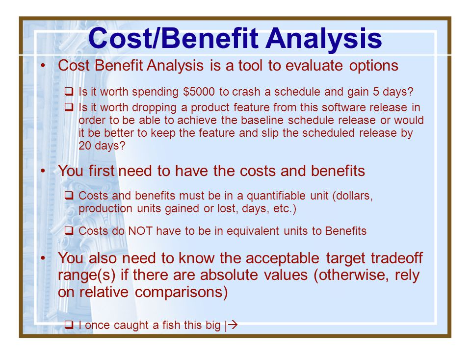 Opportunity Cost What is it? Why is important? A well run business or project doesn't have a great deal of excess (i.e. unallocated) cash/other resour