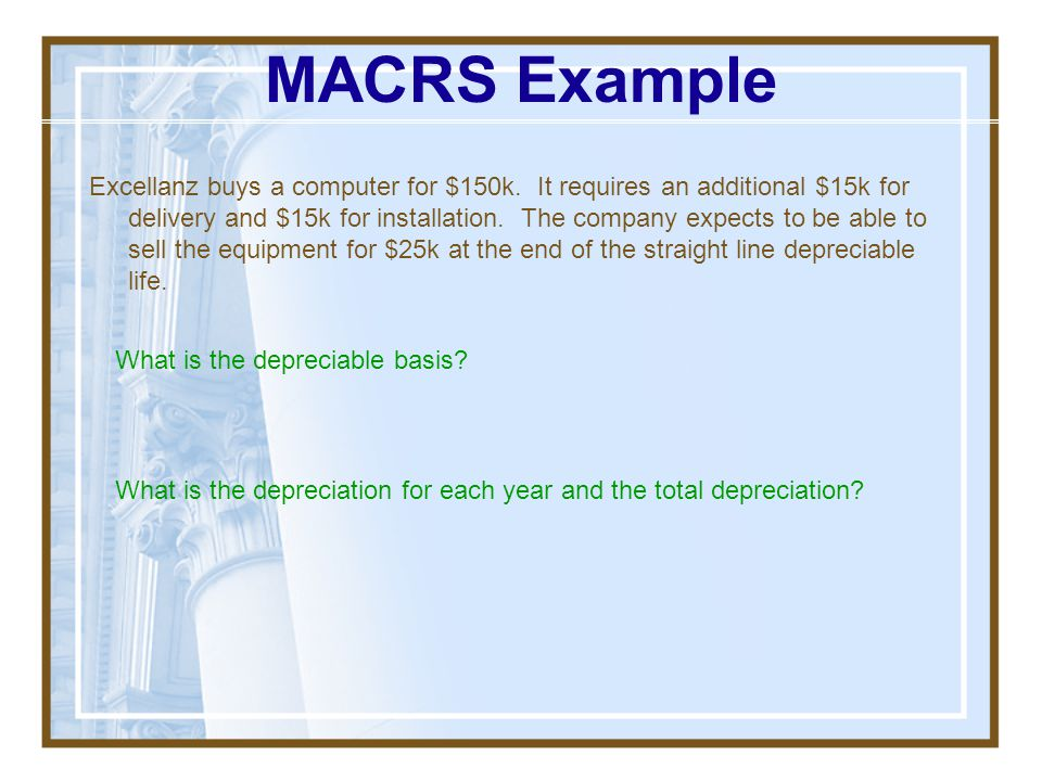 MACRS Continued Salvage Value: Add the difference of (actual sale price – undepreciated value) to normal operating income for taxation at the normal r