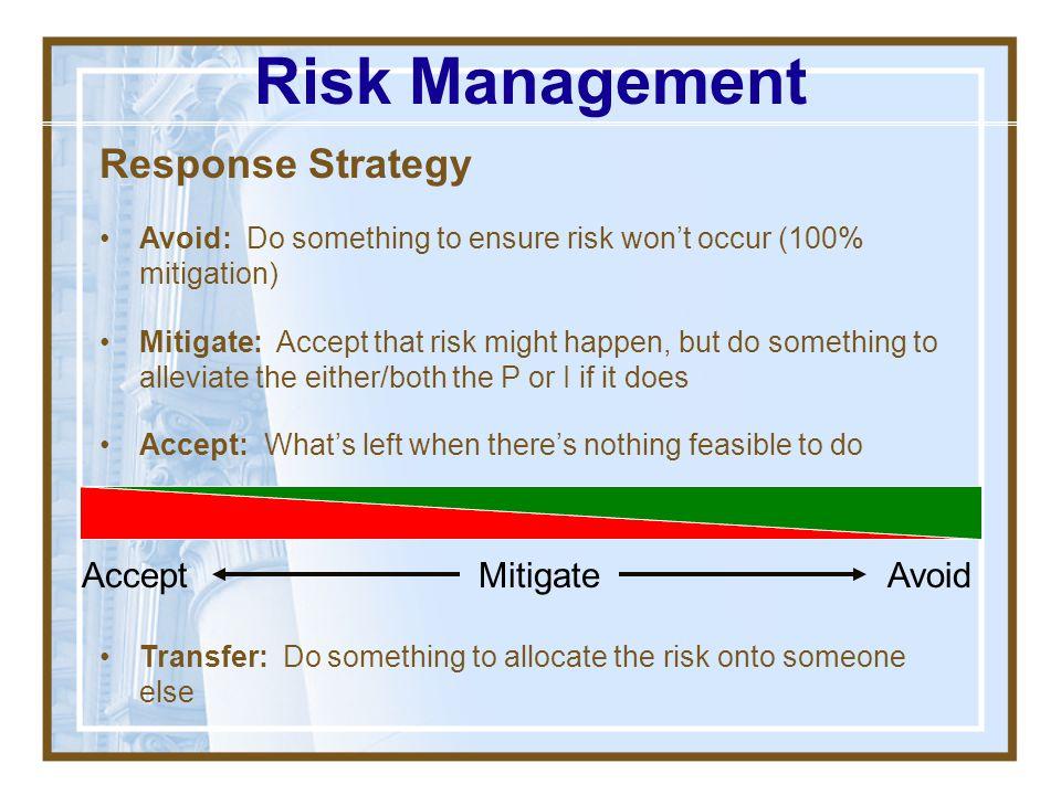 Monitoring Plan How/what will you/r team watch to see if the risk may be happening? Discuss some examples Risk Management