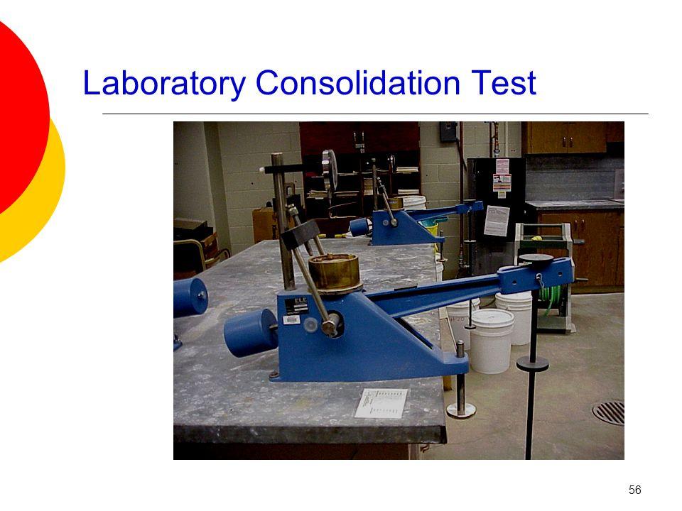 Laboratory Consolidation Test 56