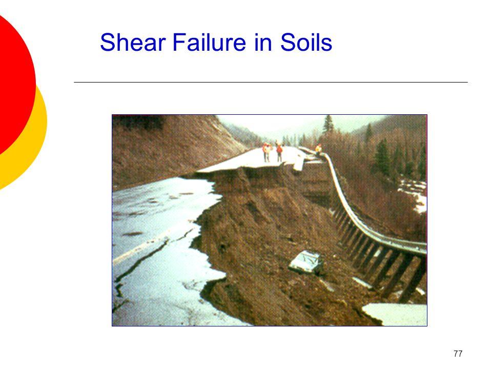 Shear Failure in Soils 77