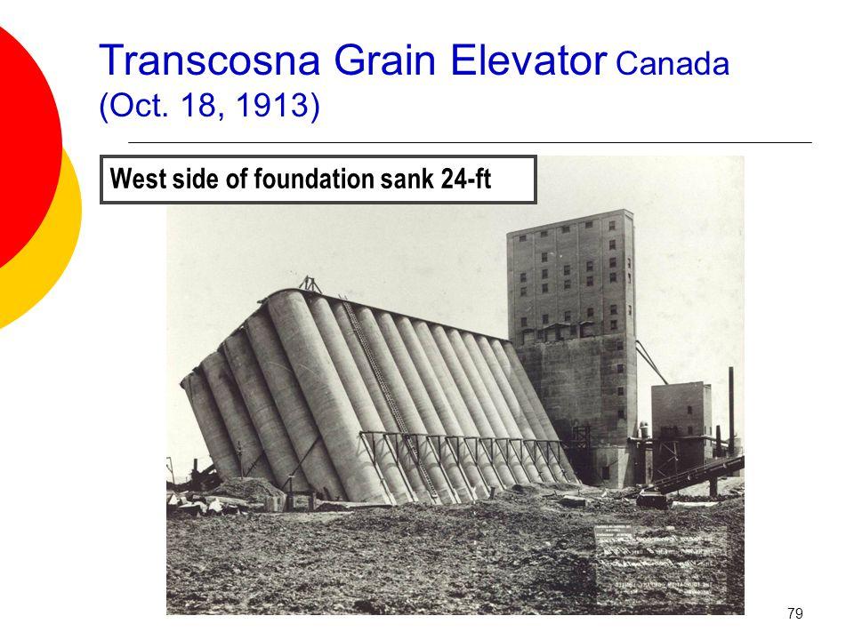 Transcosna Grain Elevator Canada (Oct. 18, 1913) West side of foundation sank 24-ft 79
